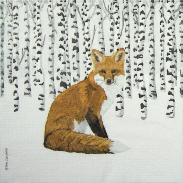 Paper Napkin -  Two Can Art: Wilderness Fox