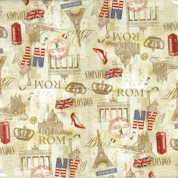 Lunch Napkins (20) - Capitals all over