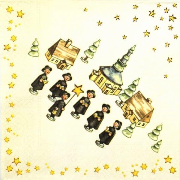 Paper Napkin - Christmas Singers