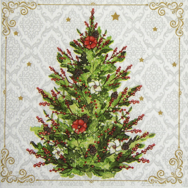 Cocktail Napkins (20) - Christmas Tree