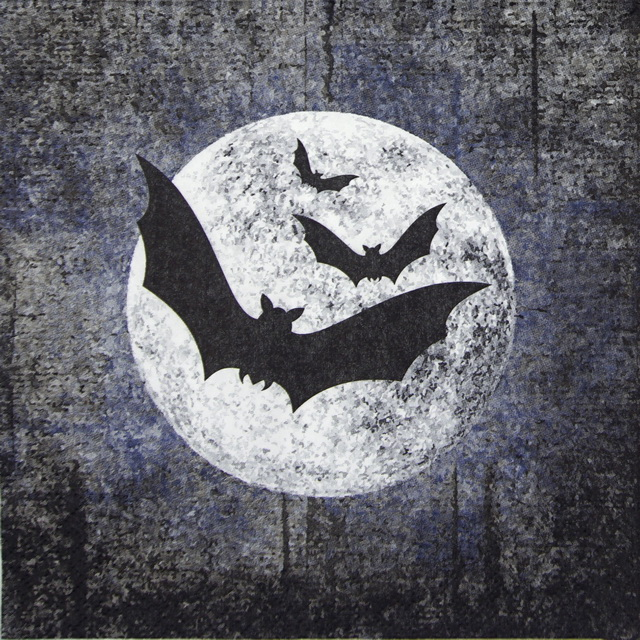 Lunch Napkins (20) - Moon and Bats