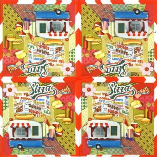 Paper Napkin - Nostalgic Diner