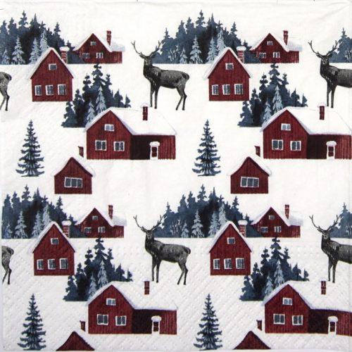 Paper Napkin - Nordic Village