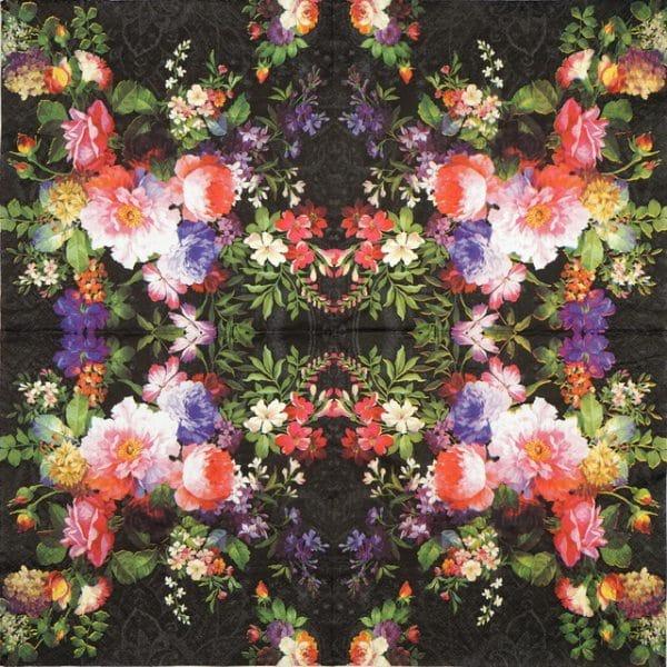 Lunch Napkins (20) - Roses on Velvet
