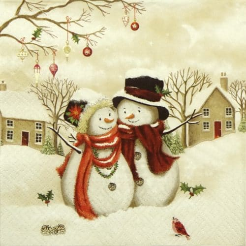 Lunch Napkins (20) - Snowy Family