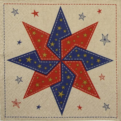 Lunch Napkins (20) - Patchwork Star