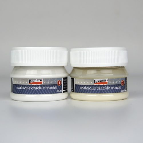Pentart Opalesque crackle varnish - 2 components set