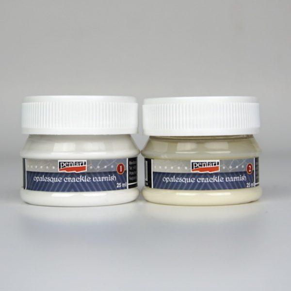 Pentart Opalesque crackle varnish - 2 components set