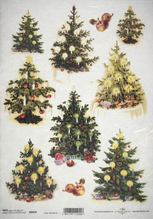 Rice Paper - Christmas Tree Collection