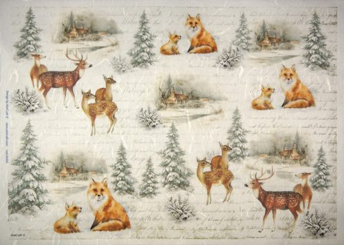 Rice Paper -  Winter animals