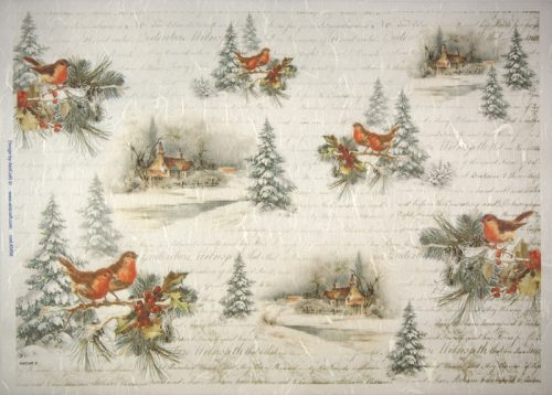 Rice Paper -  Winter scene