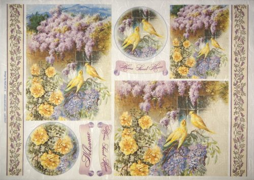 Rice Paper -  Wisteria Flowers