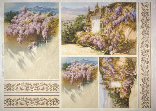 Rice Paper -  Wisteria Flowers-Ornaments