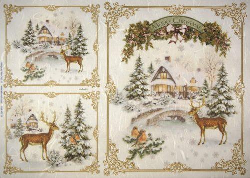 Rice Paper -  Winter Deer