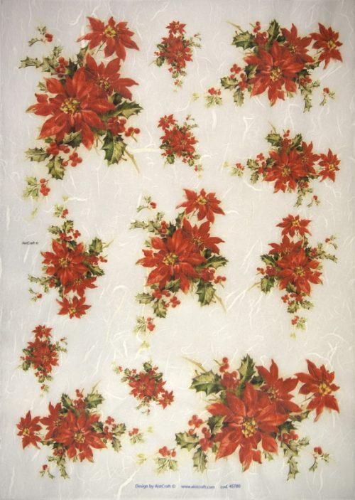 Rice Paper -  Poinsettia
