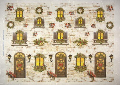 Rice Paper -  Christmas Doors