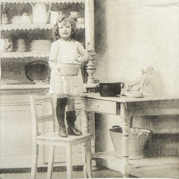 Paper Napkin - Cooking Girl