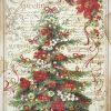 Rice Paper -  Christmas Greetings Tree