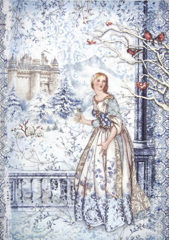 Rice Paper -  Fairy In Snow
