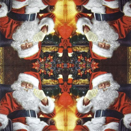 Paper Napkin - Santa at Home