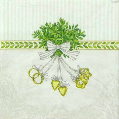 Paper Napkin - Wedding Symbols