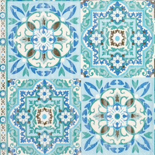 Lunch Napkins (20) - Tiles Green