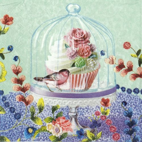Lunch Napkins (20) - Cupcake & Bird