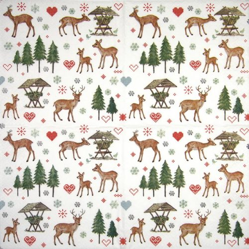 Paper Napkin - Charming Deers