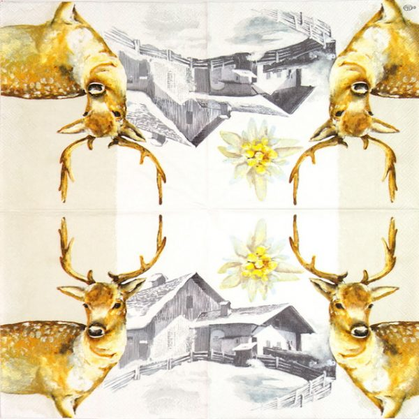 Paper Napkin - Mountain Deer