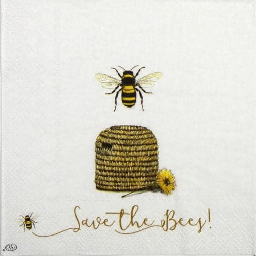 Paper Napkin - Save the Bees!