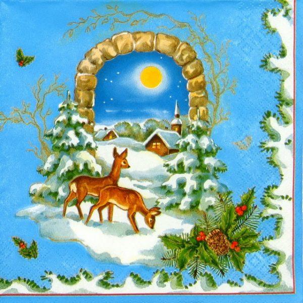 Paper Napkin - Winter Landscape