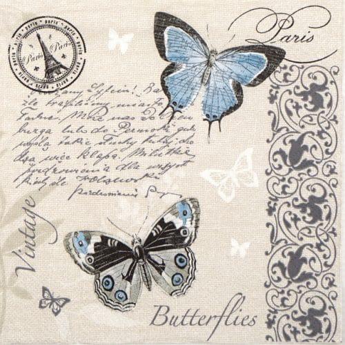 Paper Napkin - Butterflies Postcard