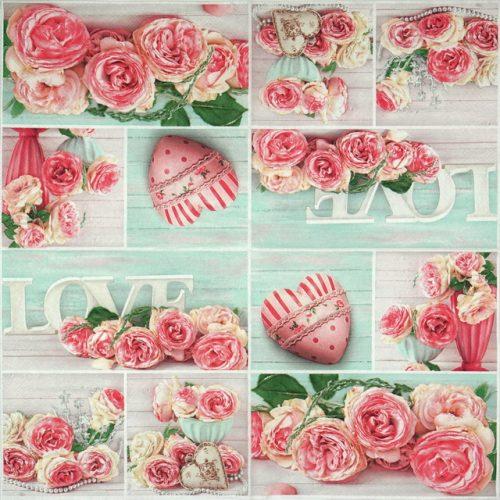 Paper Napkin - Pashmina Rose Collage