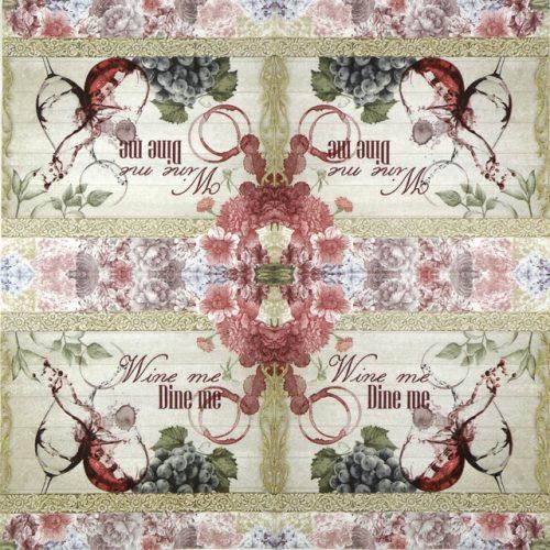 Paper Napkin - Wine me dine me