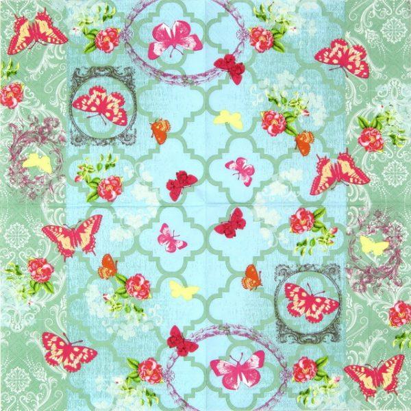 Paper Napkin - Butterfly Garden