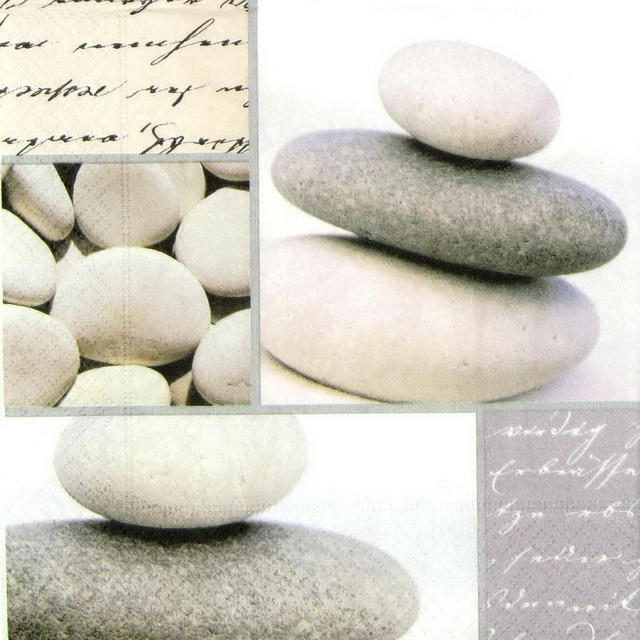 Paper Napkin - Piled Stones