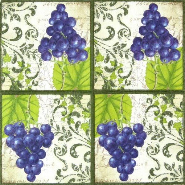 Paper Napkin - Bunch of Grapes