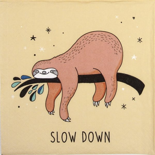 Paper Napkin - Slow Down