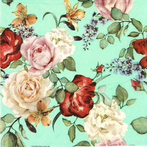 Lunch Napkins (20) - Roses Green