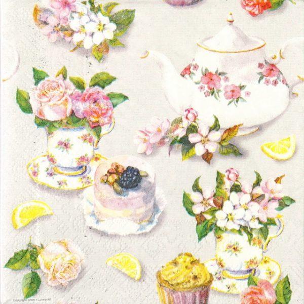 Paper Napkin - Cakes & Flower