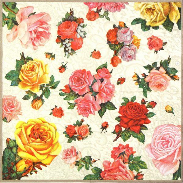 Lunch Napkins (20) - Nostalgic Roses