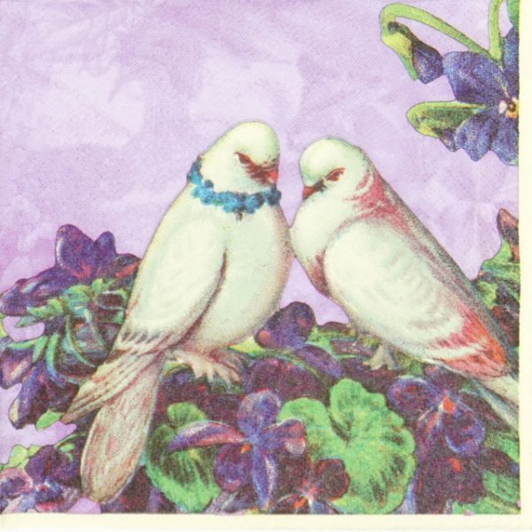 Lunch Napkins (20) - Purple Love Birds