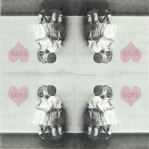 Paper Napkin - Kids on Love
