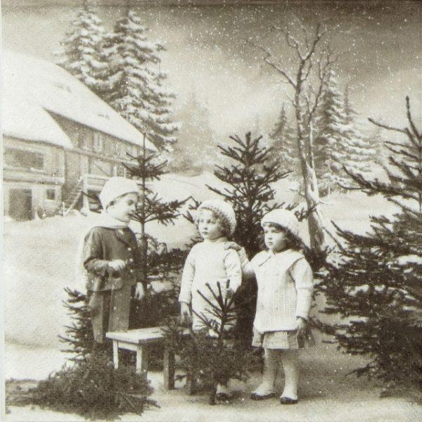 Paper Napkin - Christmas Children
