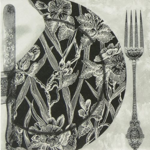Paper Napkin - Black Dinner Setting