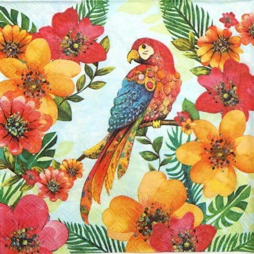Paper Napkin - Tropical Parrot