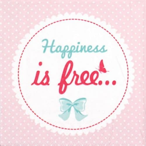 Paper Napkin - Happiness is free