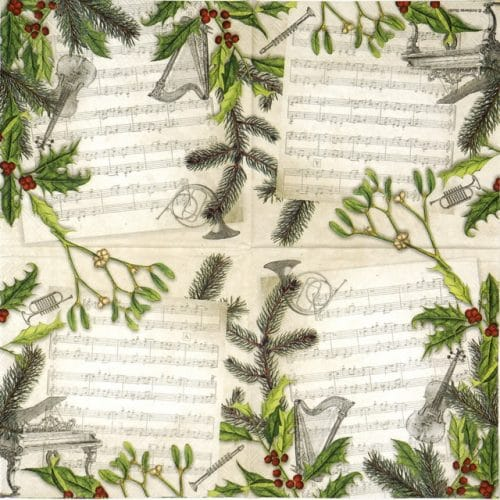 Paper Napkin - Christmas Song