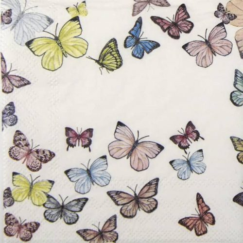 Cocktail Napkin - Butterfly White