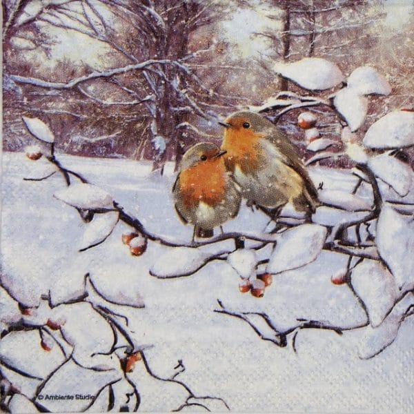 Cocktail Napkin - Robin on Branch